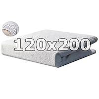 Непромокаемый махровый наматрасник с бортами - 120х200