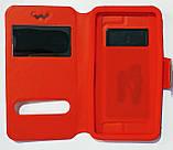 Чехол-книжка универсальный 5,0-5,5 дюйма Красный, фото 2