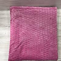 Плед покрывало Микрофибра ALBO 200х230 cm Розовое (P-F3-5-2), фото 1