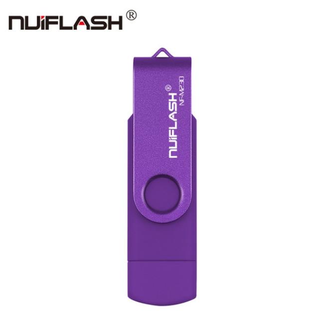 OTG USB Flash накопичувач 32 GB Nuiflash Фіолет