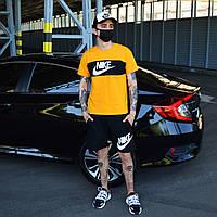 Мужской комплект, спортивный костюм футболка и шорты Nike