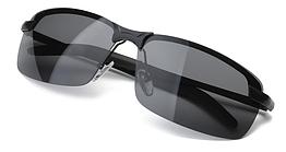 Очки для вождения поляризованные / С ПОЛЯРИЗАЦИЕЙ в открытой оправе с регулируемыми носовыми упорами - ЧЁРНЫЕ