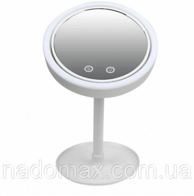 Кругле дзеркало з підсвічуванням і вентилятором Beauty Breeze Mirror