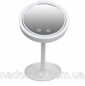 Кругле дзеркало з підсвічуванням і вентилятором Beauty Breeze Mirror, фото 2