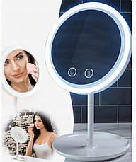 Кругле дзеркало з підсвічуванням і вентилятором Beauty Breeze Mirror, фото 3