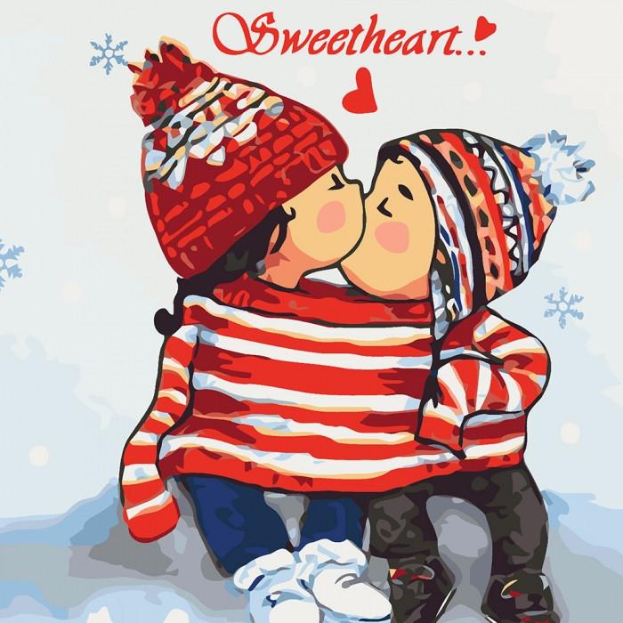Живопись по номерам Sweetheart 2 KHO2334 Идейка 30 х 30 см (без коробки)