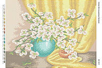 Схема для вышивания бисером ''Нежно букетик яблони'' А3 29x42см