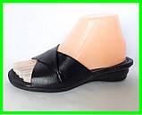Женские Тапочки Шлёпанцы Сабо на Танкетке Чёрные на Платформе (размеры: 37,39,40,41), фото 2