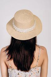 Шляпа канотье Вивиан песочный цвет