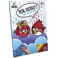 Картинка из фольги Foil World  Злые птички