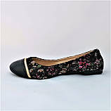.Женские Балетки Чёрные Мокасины Туфли (размеры: 36,37,39), фото 4