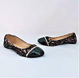 .Женские Балетки Чёрные Мокасины Туфли (размеры: 36,37,39), фото 6