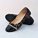 .Женские Балетки Чёрные Мокасины Туфли (размеры: 36,37,39), фото 7