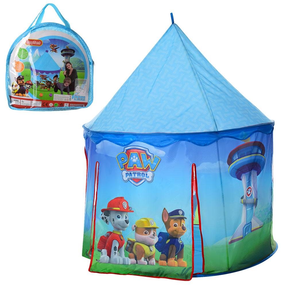 Палатка детская игровая M 5726 Щенячий патруль голубой цвет