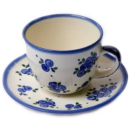 Чашка 0,2L с блюдцем Чернички, фото 2