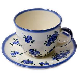 Чашка 0,2L с блюдцем Чернички