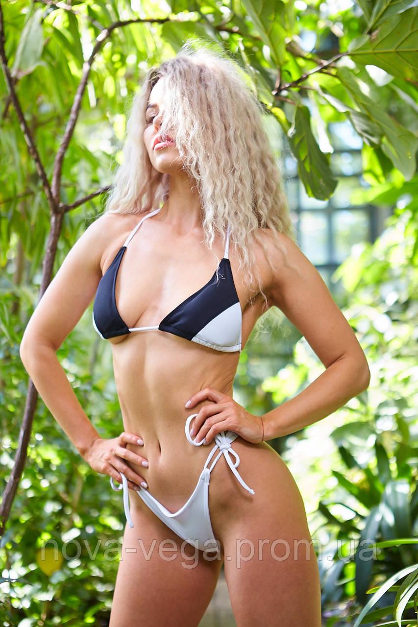Женский пляжный купальник Nova Vega Diera black+white