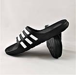 Шлёпанцы Тапочки ADIDAS Сланцы Чёрные Мужские Адидас (размеры: 41,42,43,45), фото 2