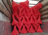 Дорожній бар'єр водоналивний пластиковий 1.2 (м), фото 4