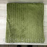 Покрывало плед Микрофибра ALBO 200х230 cm Зеленое (P-F3-22-2), фото 6