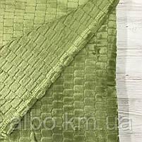 Покрывало плед Микрофибра ALBO 200х230 cm Зеленое (P-F3-22-2), фото 3