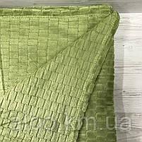 Покрывало плед Микрофибра ALBO 200х230 cm Зеленое (P-F3-22-2), фото 5