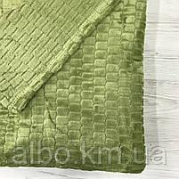 Покрывало плед Микрофибра ALBO 200х230 cm Зеленое (P-F3-22-2), фото 4