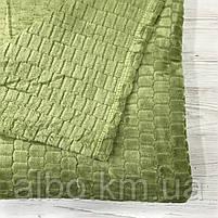Покрывало плед Микрофибра ALBO 200х230 cm Зеленое (P-F3-22-2), фото 7