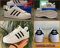 Кроссовки мужские Adidas Superstar Адидас Адідас Суперстар / кеды суперстар / натуральная кожа