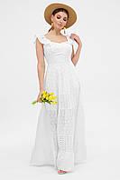 Женский длинный белый сарафан Фрина