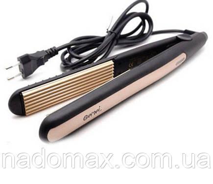Плойка гофре для волос Gemei GM 2955 с турмалиновым покрытием, фото 2