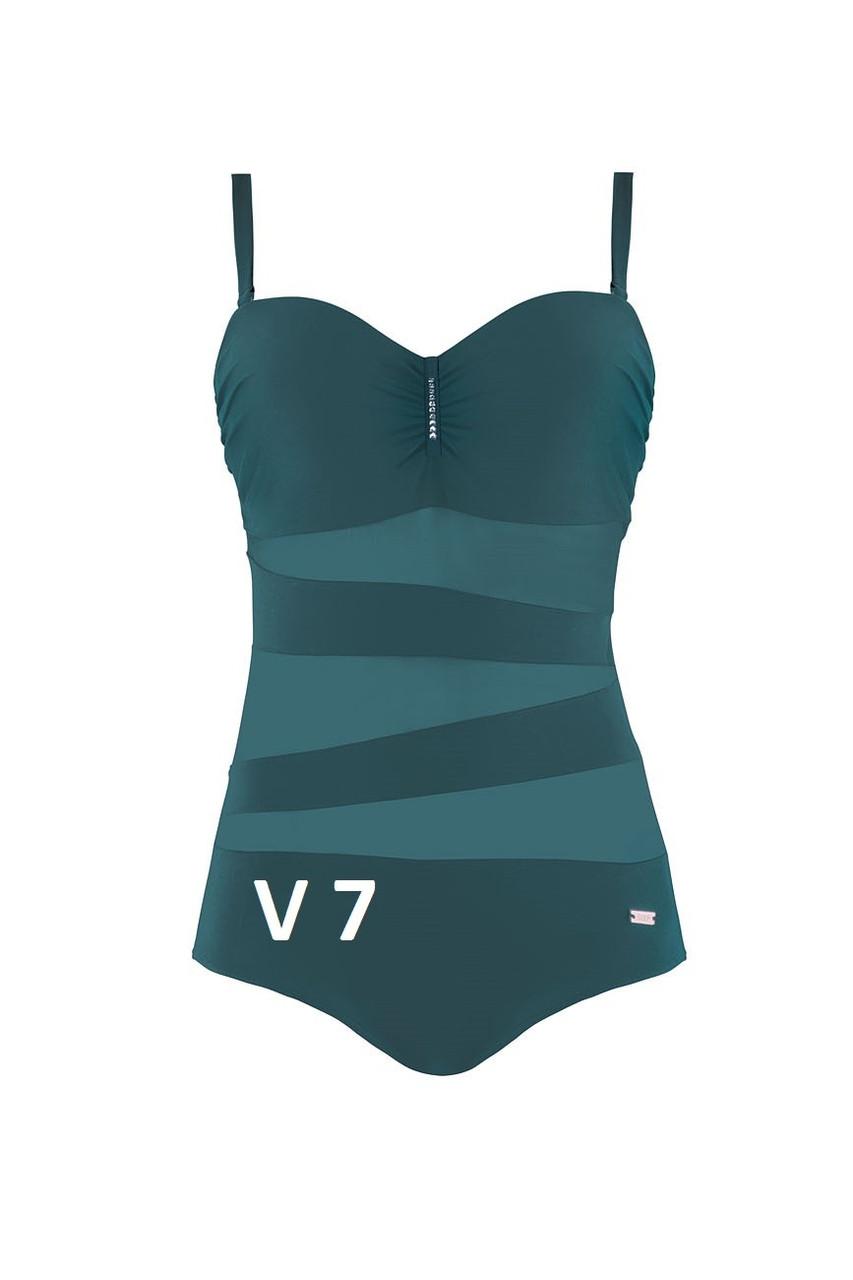 Элегантный цельный купальника Self Collection цвета морской волны.Размер: 42 D/E/F, 44 C/D/E/F, 46 C, 48 C/E