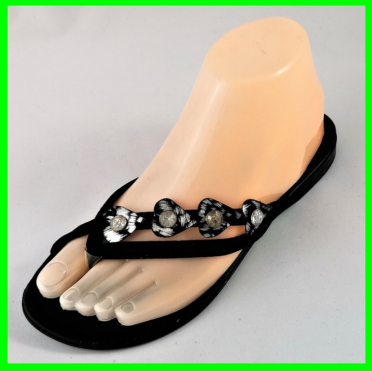 Женские Тапочки Шлёпанцы Сланцы Вьетнамки Чёрные (размеры: 37,38,39)