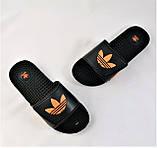 Мужские Шлёпанцы Тапочки ADIDAS Сланцы Массажёры Черные (размеры: 41,42,43,44,45), фото 7