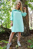 Женские платье оверсайз льняное, фото 1