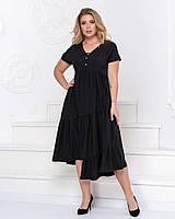 Женское платье интересного кроя большие размеры, фото 1
