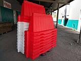 Дорожный пластиковый барьер 1.2 (м), фото 7