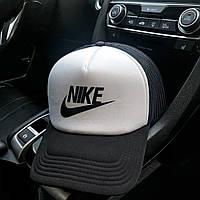 Бейсболка мужская Adidas black-white с сеткой, фото 1