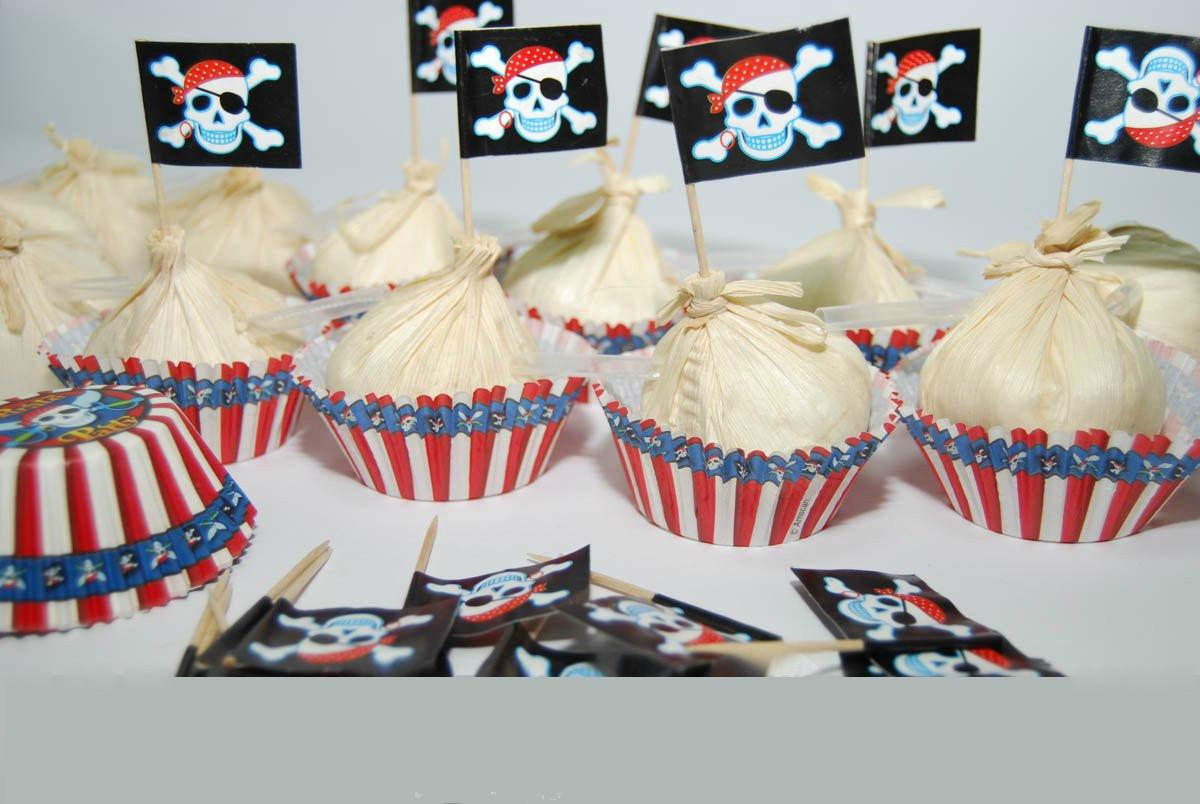 "Набор для кексов ""Пират"" форма (24шт) + флаг(24шт) в наборе 48 шт (код 04337)"