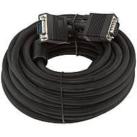 Кабель VGA вилка вилка 10 метров LogicPower (LP-3690) черный
