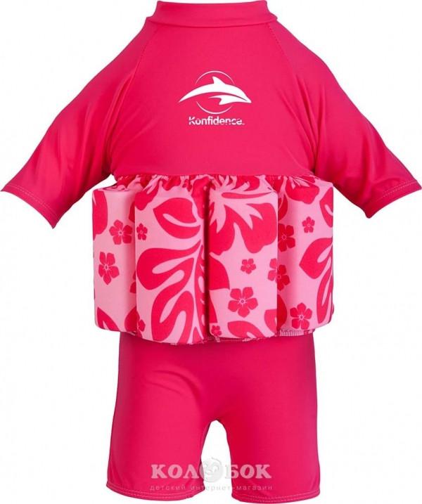 Купальник–поплавок Konfidence Floatsuit 4-5 лет Купальник Floatsuit 4-5 лет Hibiscus/Pink
