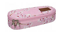 Пенал на молнии 1 отделение ST. RIGHT нежно-розовый для девочки