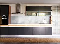 "Наклейки кухонный фартук  Zatarga ""Мрамор серый"" 600х2500 мм серый"
