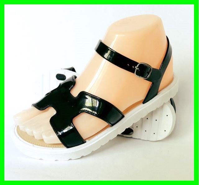 Женские Сандалии Босоножки Чёрные Летняя Обувь (размеры: 41)
