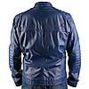 Мужская кожаная куртка Brixton темно-синяя, фото 6
