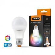 LED смарт лампа VIDEX A60 RGB CW  WI-FI 12W E27  220V
