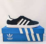 Кроссовки Adidas Gazelle Синие Мужские Адидас (размеры: 42) Видео Обзор, фото 3