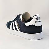 Кроссовки Adidas Gazelle Синие Мужские Адидас (размеры: 42) Видео Обзор, фото 4