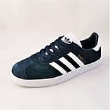 Кроссовки Adidas Gazelle Синие Мужские Адидас (размеры: 42) Видео Обзор, фото 5