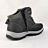 Ботинки ЗИМНИЕ Мужские Кроссовки МЕХ Чёрные Прошиты (размеры: 40,41,42,43,44,45) - 737, фото 10